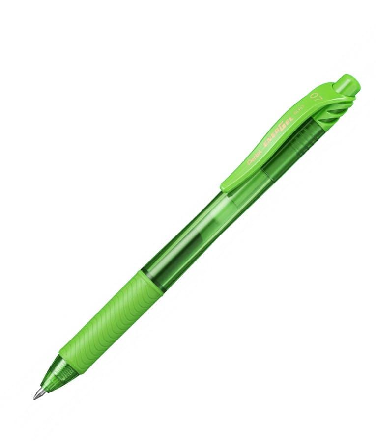 Στυλό Energel X με κουμπί 0.7 Metal Tip Υγρής Μελάνης Λαχανί Lime Metal Tip BL107-K