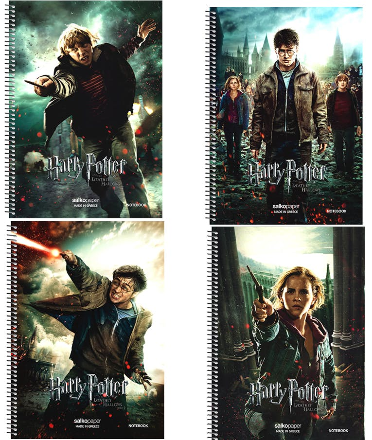 Β5 Τετράδιο Σπιράλ Salko Paper Harry Potter 2 Θεμάτων Ριγέ 60φύλλων 17x25 7202