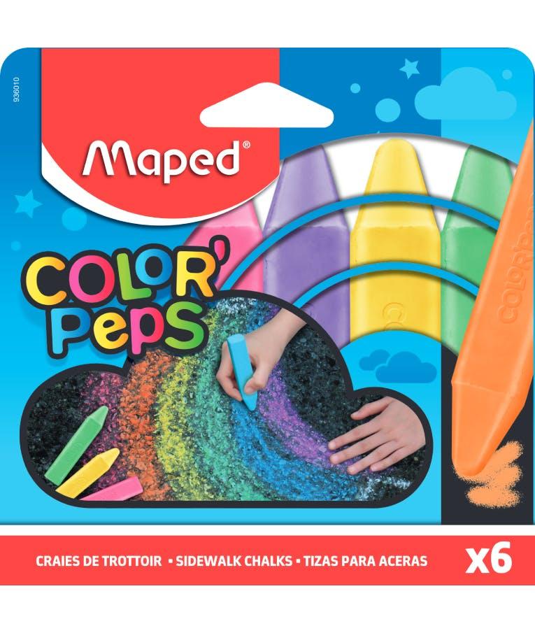 Κιμωλίες Maped Color'Peps Χρωματιστές Πακέτο 6 Τεμαχίων 936010