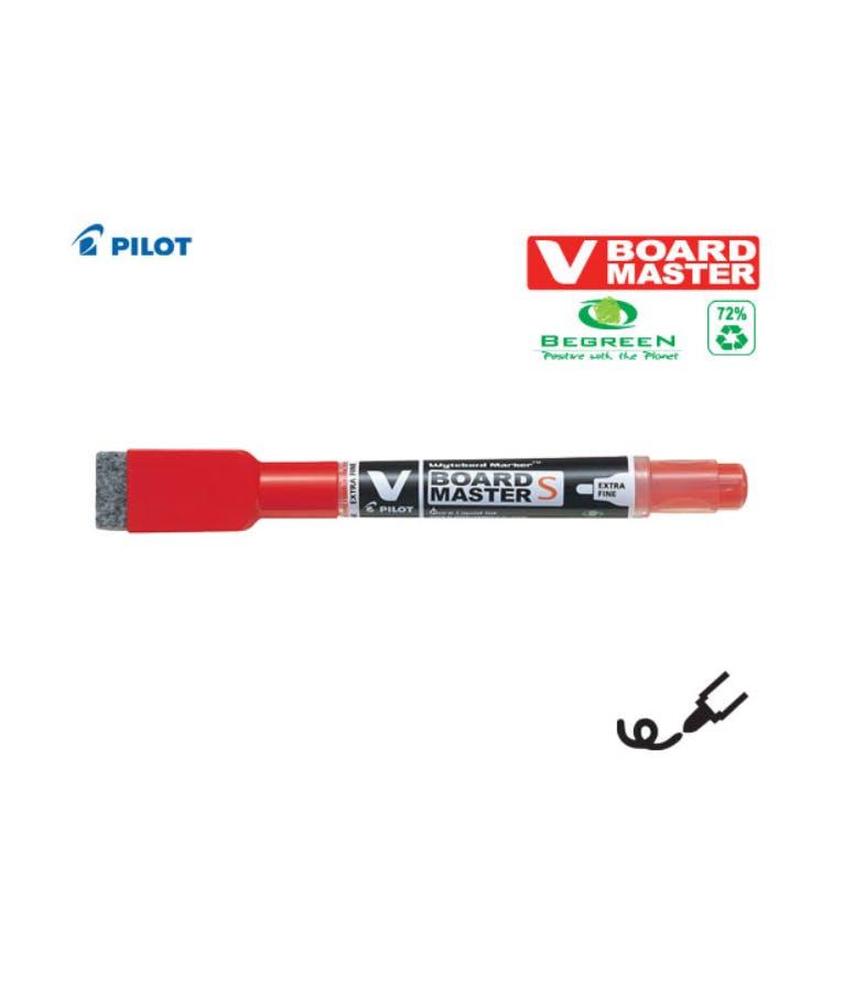 Μαρκαδόρος πίνακα Pilot V Board με σπόγγο κόκκινο EXTRA FINE Be Green WBME-VS-EF-R-GB Whiteboard Ασπροπίνακα