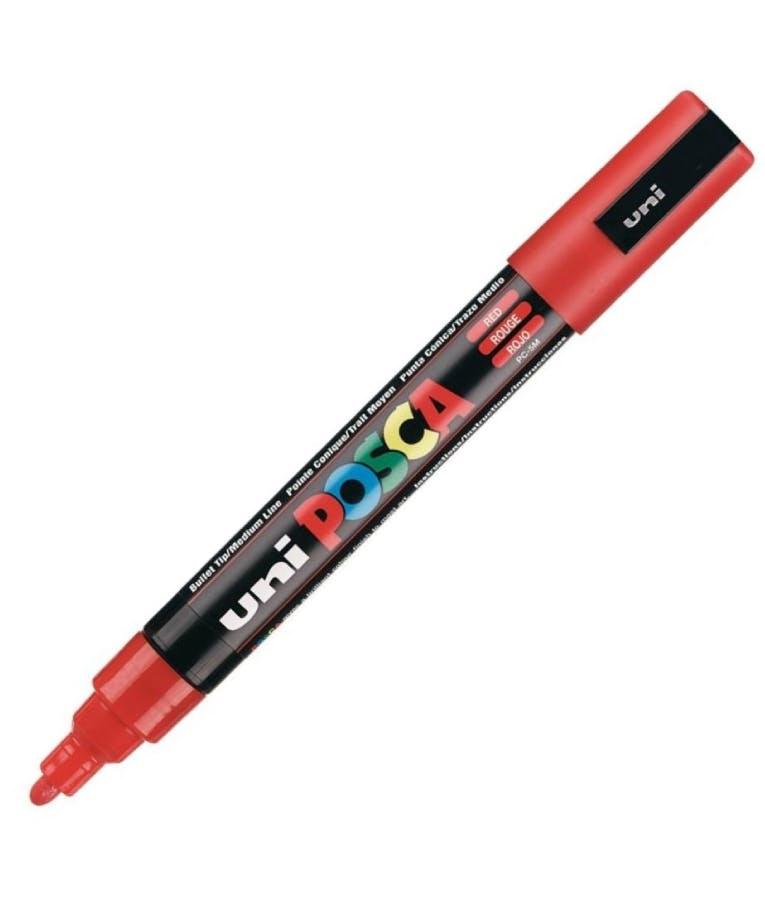 Μαρκαδόρος Bullet Κόκκινο Red 15 Uni-ball Posca 1.8-2.5 PC-5M
