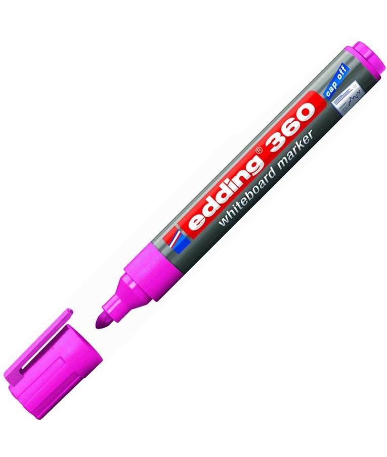 Μαρκαδόρος πίνακος -Ασπροπίνακα Edding 360/009 1.5-3 mm Ροζ Στρογγυλή Μύτη Επαναγεμιζόμενος Refillable