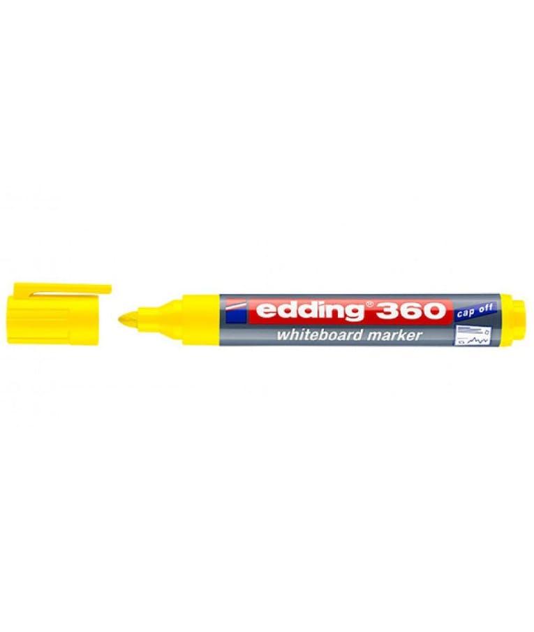 Μαρκαδόρος πίνακος -Ασπροπίνακα Edding 360/005 1.5-3 mm Κίτρινο Στρογγυλή Μύτη Επαναγεμιζόμενος Refillable