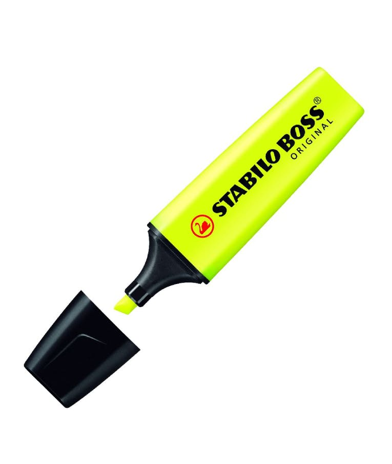 Μαρκαδόρος υπογραμμίσεως Boss 70/24 Κίτρινο Yellow