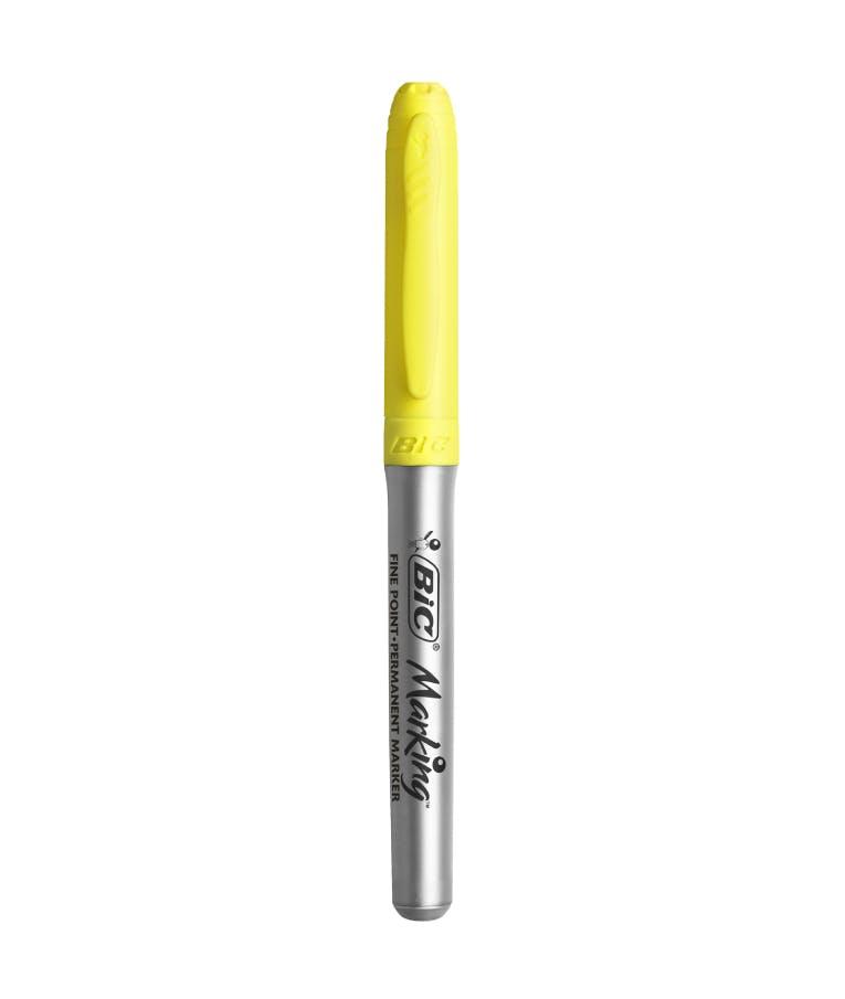 Bic Μαρκαδόρος Ανεξίτηλος Κίτρινο Yellow Blaze Fine Byfo (950468)