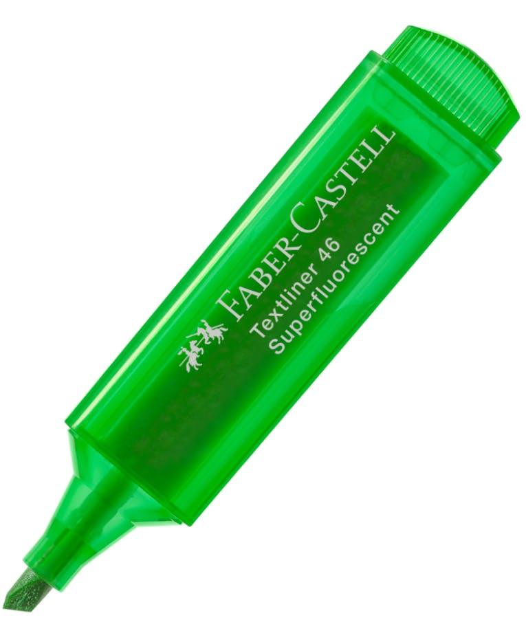 Faber-Castell Textliner 46 Μαρκαδόρος Υπογράμμισης Superflourescent Green Πράσινο 5mm 1546 PASTEL 154663