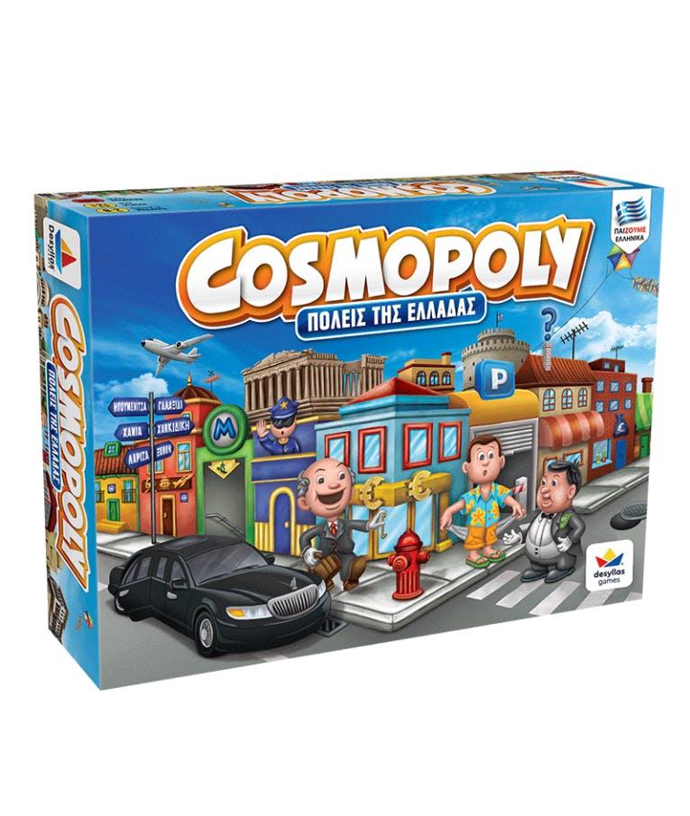 Επιτραπέζιο Οικογενειακό Παιχνίδι Cosmopoly (Πόλεις Της Ελλάδας) 8+ Desyllas 100556