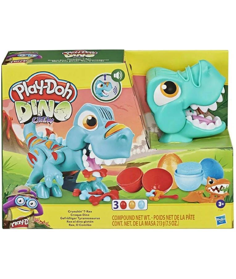Πλαστελίνη - Παιχνίδι Dino Crew Crunchin T-Rex 3 τμχ Πλαστοζυμαράκια F1504 Hasbro Play-Doh για παιδιά 3+