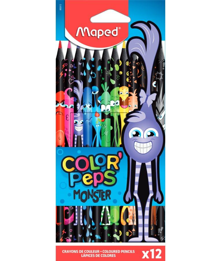 Maped Color Peps Monster Ξυλομπογιές Λεπτές 12 Χρώματα COLOR PEPS 862612