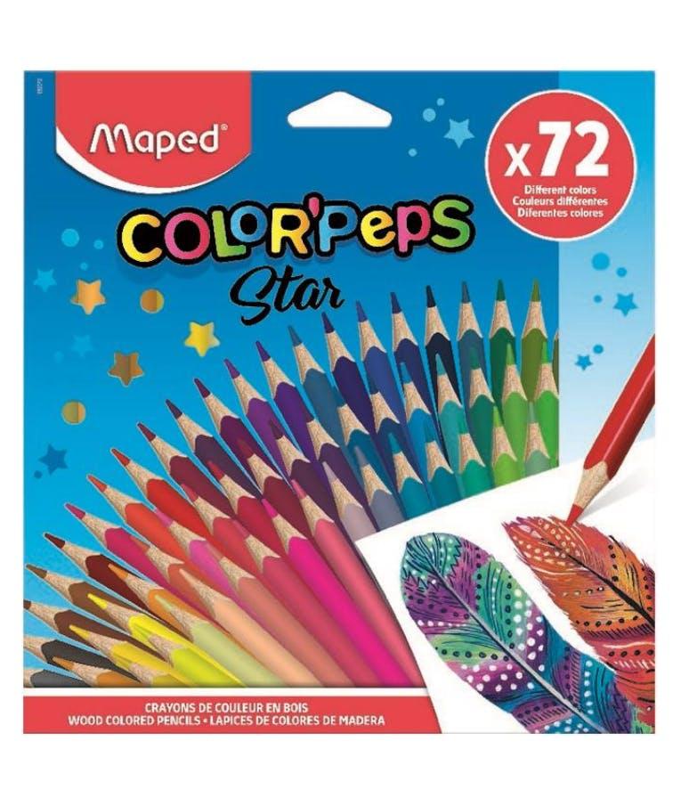 ΞΥΛΟΜΠΟΓΙΕΣ 72 χρώματα COLOR PEPS STAR 832072
