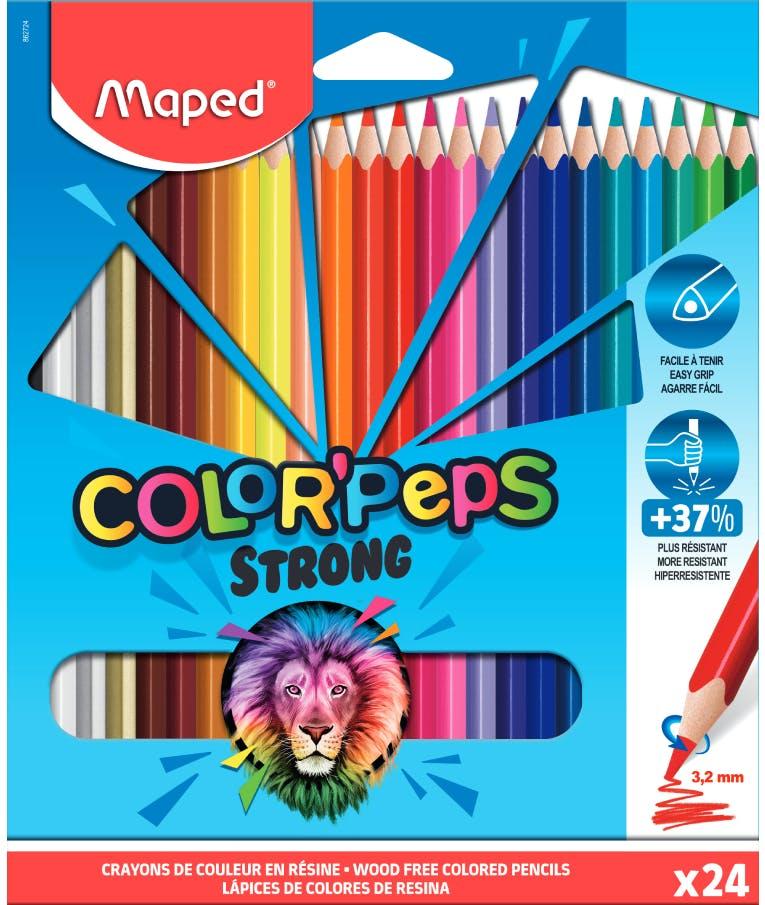 Maped Color'Peps Strong Σετ Ξυλομπογιές 24 χρωμάτων Strong Ανθεκτική Μύτη 3.2mm 862724