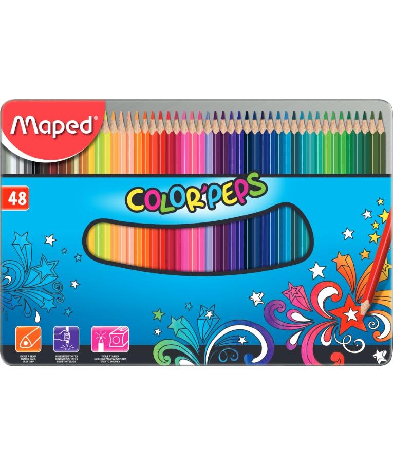 Maped Ξυλομπογιές Color' Peps Star 48 τεμαχίων σε Μεταλλική Συσκευασία 832058