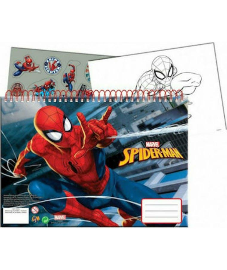30Φ  Α4 Μπλοκ Ζωγραφικής SPIDERMAN 337-77413