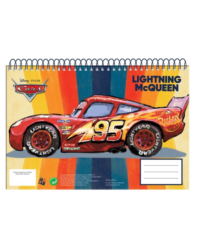 30Φ  Α4 Μπλοκ Ζωγραφικής Mc Queen Cars 341-48413