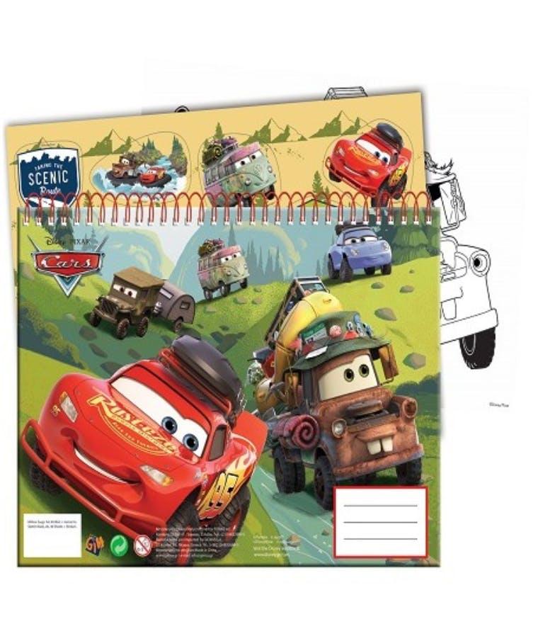 40Φ  Α4 Μπλοκ Ζωγραφικής CARS 341-48416