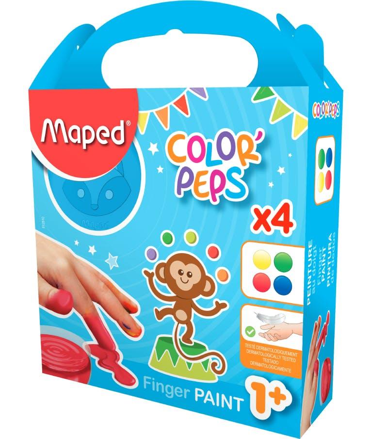Maped Color Peps Δακτυλομπογιές σε Βαζάκι 4χ80gr 812510