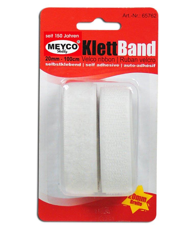 Ταινία velcro Meyco Λευκή 20mm x 1m. Αυτοκόλλητη 65762