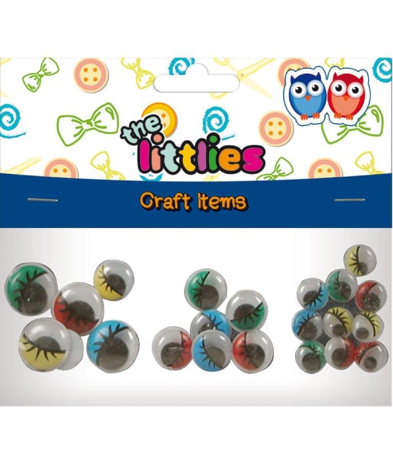 Ματάκια Χειροτεχνίας Κινούμενα Χρωματιστά 4x20mm-8x16mm-10x12mm 22 Τμχ. 646630 The Littles