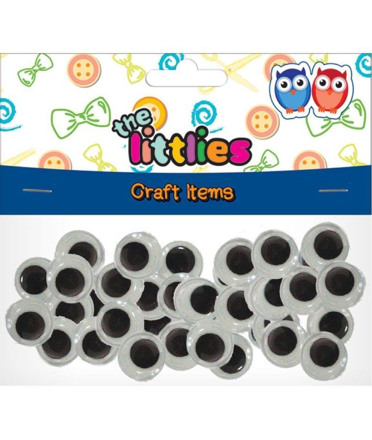 Ματάκια Χειροτεχνίας Κινούμενα Στρογγυλά 10mm 100 Τμχ 646599 The Littles