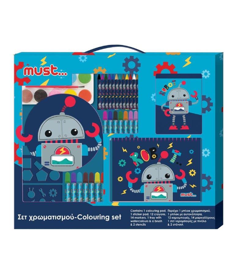 Σετ Χρωματισμού Ρομποτάκι 54*47εκ. Colouring Set Robot