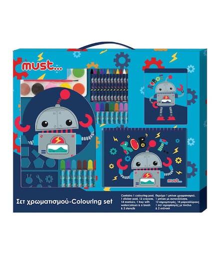 MUST - Σετ Χρωματισμού Ρομποτάκι 54*47εκ. Colouring Set Robot