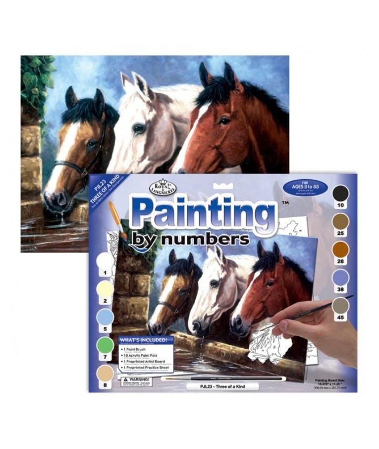 Ζωγραφίζοντας με νούμερα Άλογα Horses 30x40cm PJL23-3T