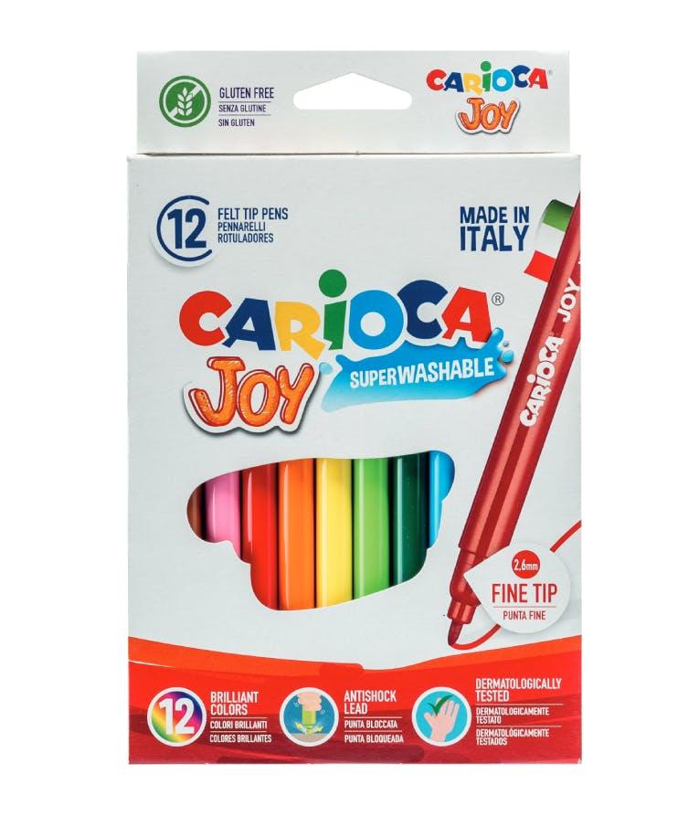 Carioca Joy Πλενόμενοι Μαρκαδόροι Ζωγραφικής Λεπτοί σε 12 Χρώματα Superwashable Fine 40614
