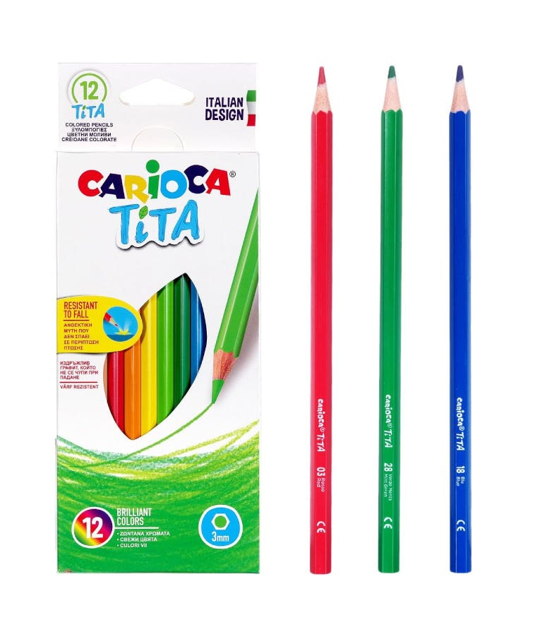 Carioca Tita Σετ Ξυλομπογιές 3mm 12τμχ 3mm 42793
