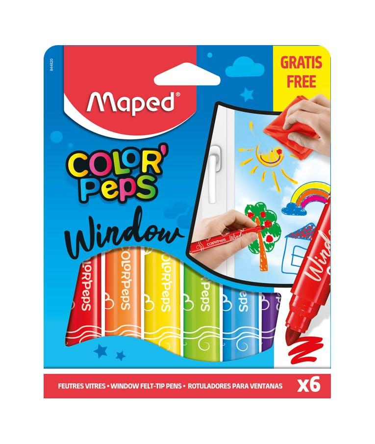 Maped Color'Peps Window Σετ Μαρκαδόροι Για Γυαλί & Πανί Με Μικροΐνες 6τμχ  844820