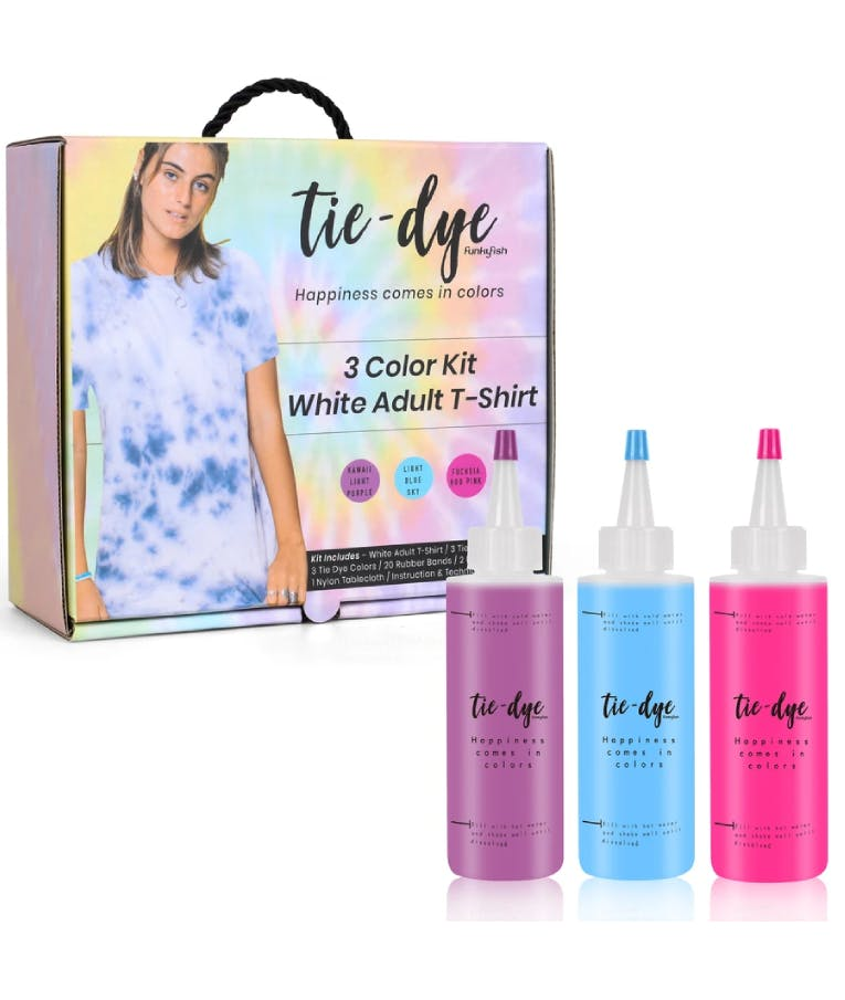 Tie - Dye Kit Χρωματισμού T-shirt Adults x2 t-shirts + 3 Color kits 300-30068 (Yellow - Blue - Pink)