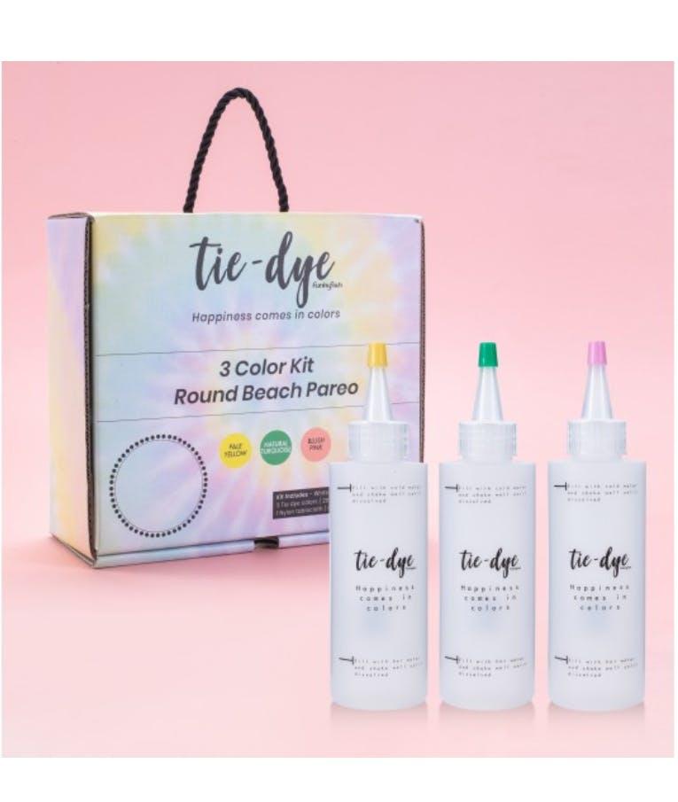 Tie - Dye Kit Χρωματισμού 3 Color kits Round Beach Pareo 300-30067 (Yellow - Turquoise - Pink)