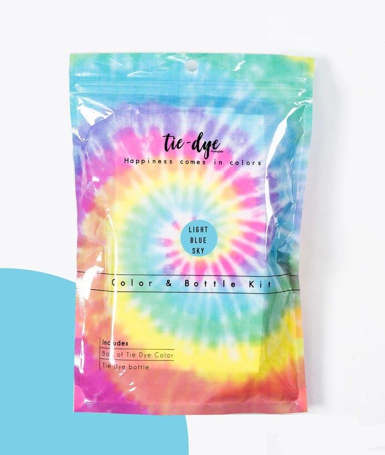 Tie - Dye Kit Χρωματισμού Light Blue 4,6g bag color + bottle 120 ml 300-30054
