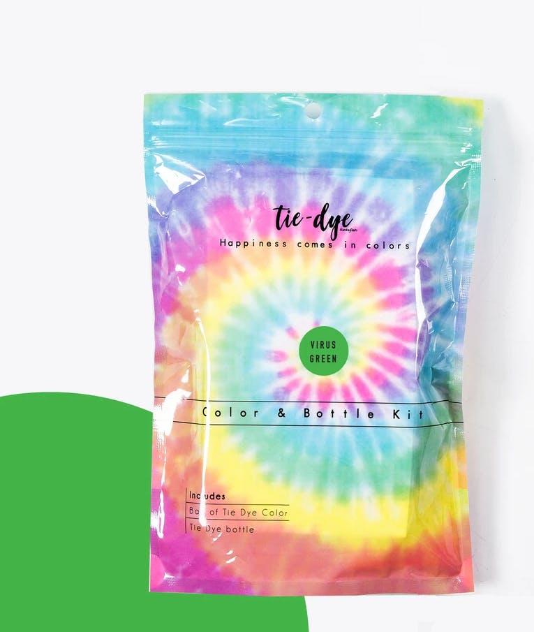 Tie - Dye Kit Χρωματισμού VIRUS GREEN 4,6g bag color + bottle 120 ml 300-30053