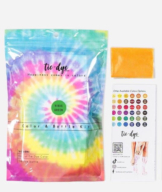 FUNKY FISH - Tie - Dye Kit Χρωματισμού VIRUS GREEN 4,6g bag color + bottle 120 ml 300-30053