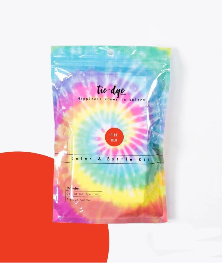 Tie - Dye Kit Χρωματισμού RED FIRE 4,6g bag color + bottle 120 ml 300-30055