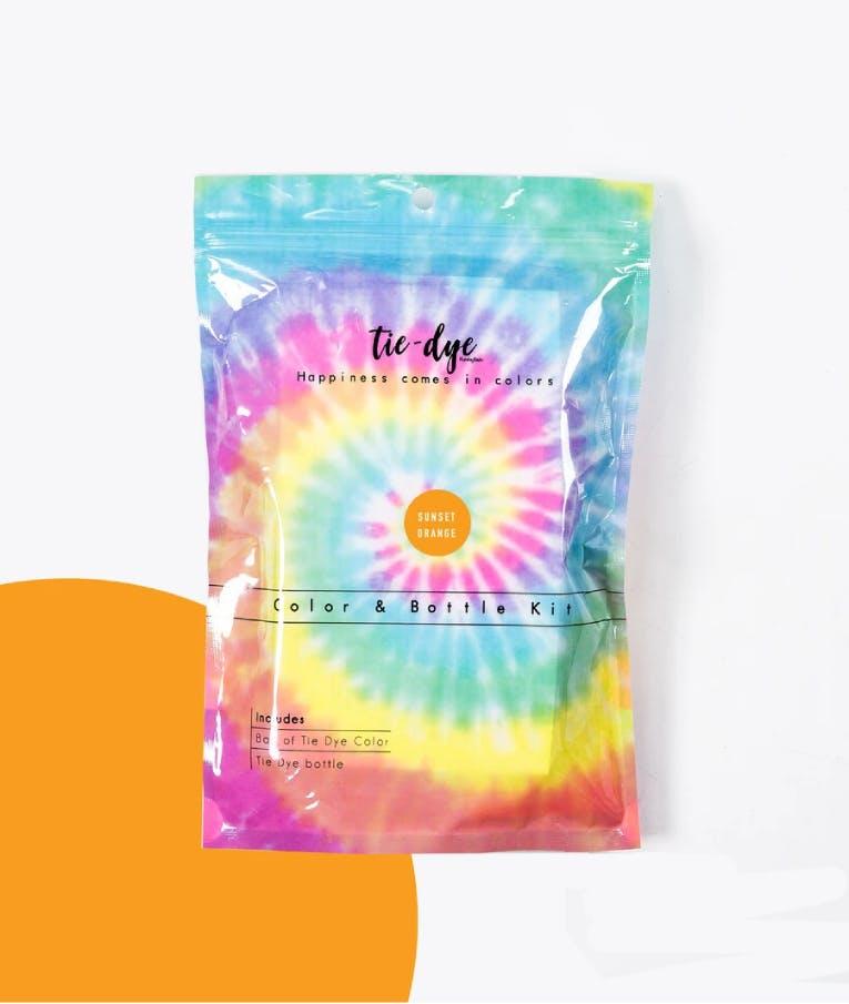 Tie - Dye Kit Χρωματισμού SUNSET ORANGE 4,6g bag color + bottle 120 ml 300-30052