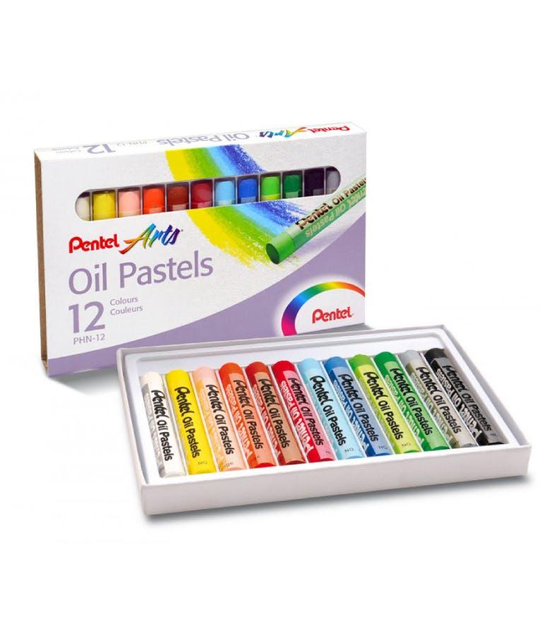 Λαδοπαστέλ Oil-pastel Pentel 12 Χρωμάτων  PHN-12-U