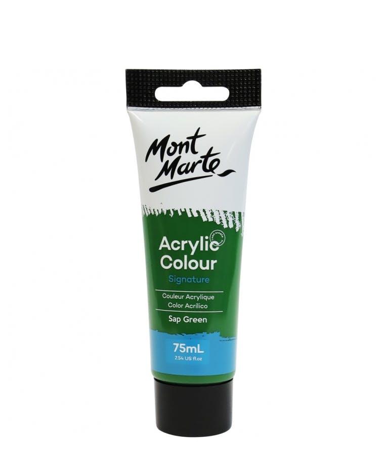 Signature Acrylic Colour Lamp Sap Green 75ml Tube - Mont Marte Ακρυλικό Χρώμα Πράσινο 75ml Σωληνάριο MSCH7526_V06