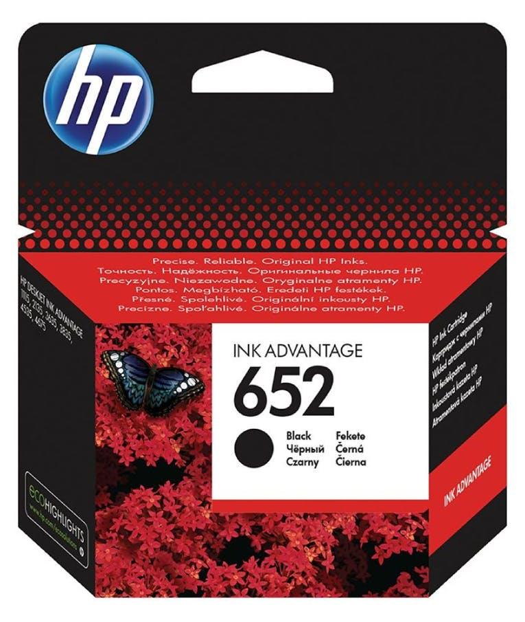 Μελάνι Inkjet No.652 Black Μαύρο (F6V25AE) (HPF6V25AE)